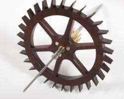 Wheel made from Outback acacia rhodoxylon with spoke inserts